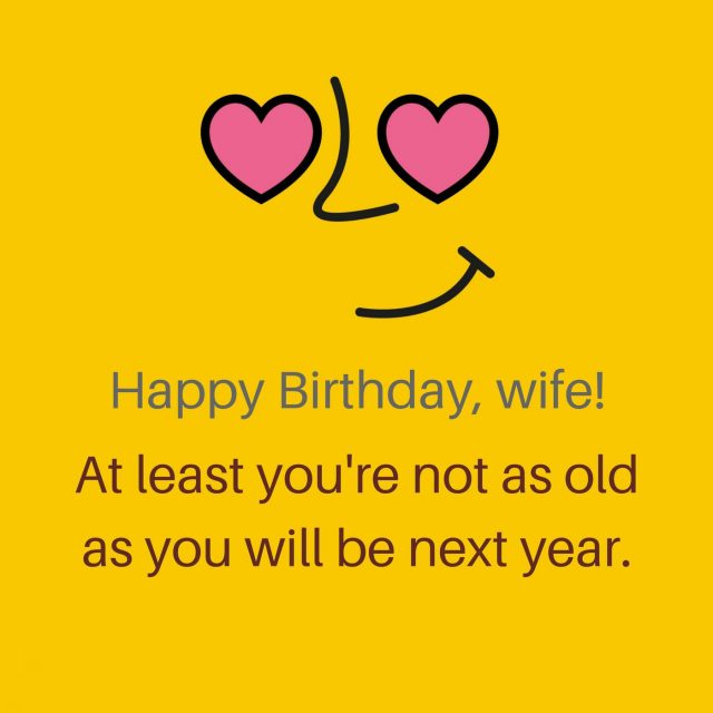 Funny Birthday Wishes for Wife with Images