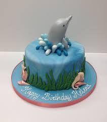 Girly Dolphin birthday cake