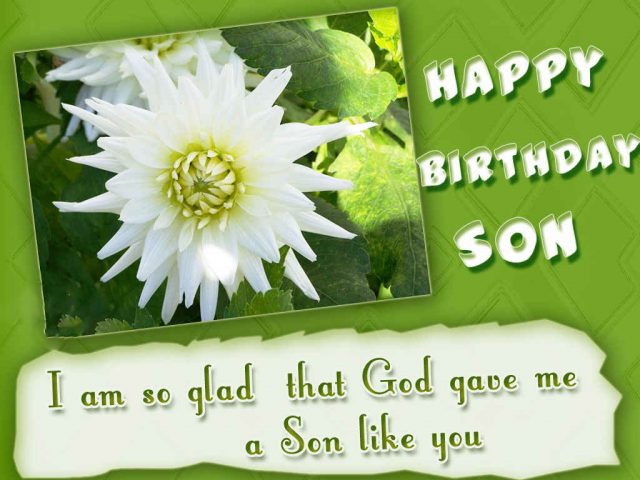 Glad Birthday Wishes for Son with Images