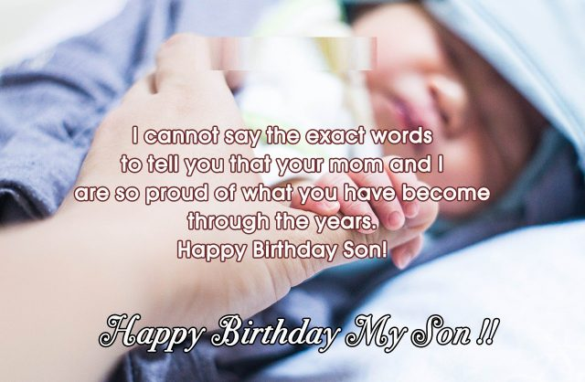 Greetings Birthday Wishes for Son with Images