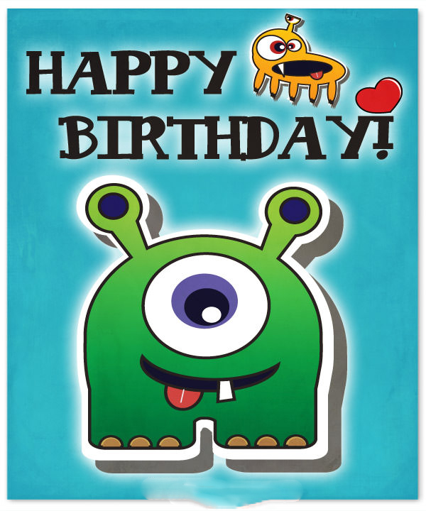 Happy Birthday Boy Images – Cute Monster