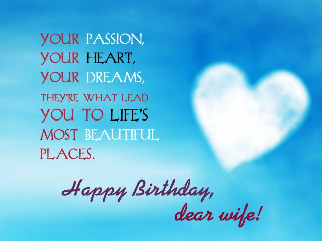 Hopeful Birthday Wishes for Wife with Images