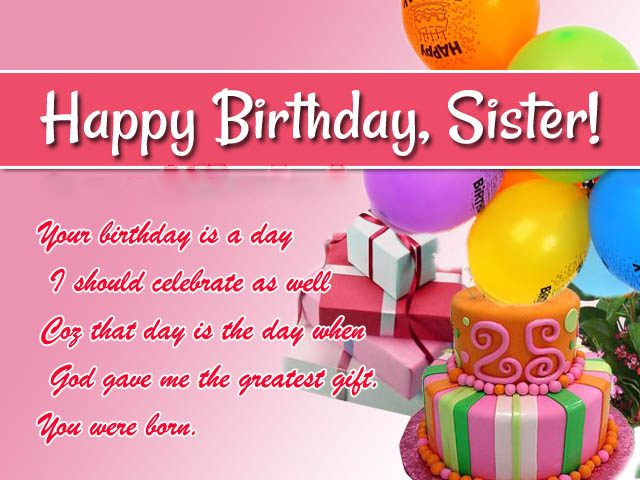 Joyful Birthday Wishes for Sister