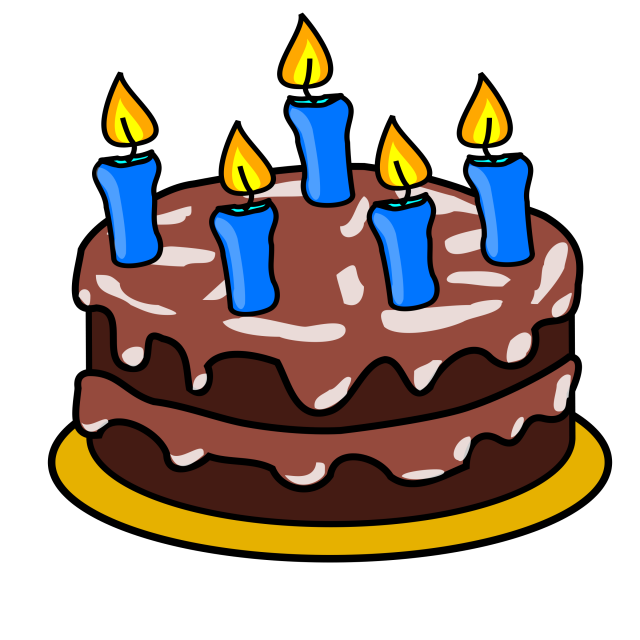 Lovely Birthday Cake Clipart