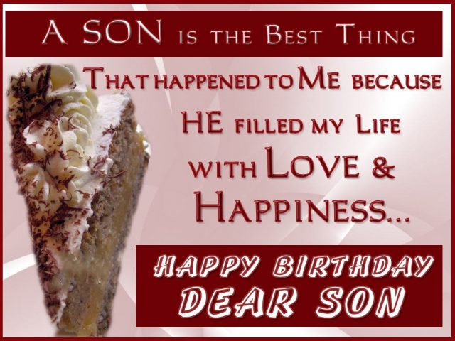 Lovely Birthday Wishes for Son with Images