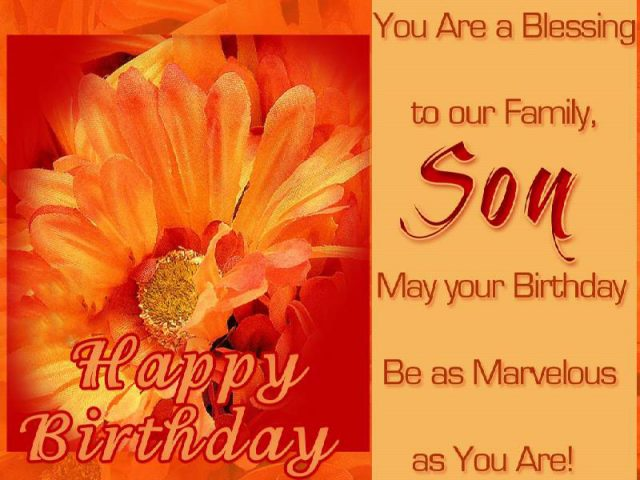 Marvelous Birthday Wishes for Son with Images