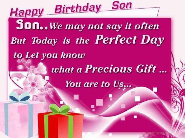 Perfect Birthday Wishes for Son with Images