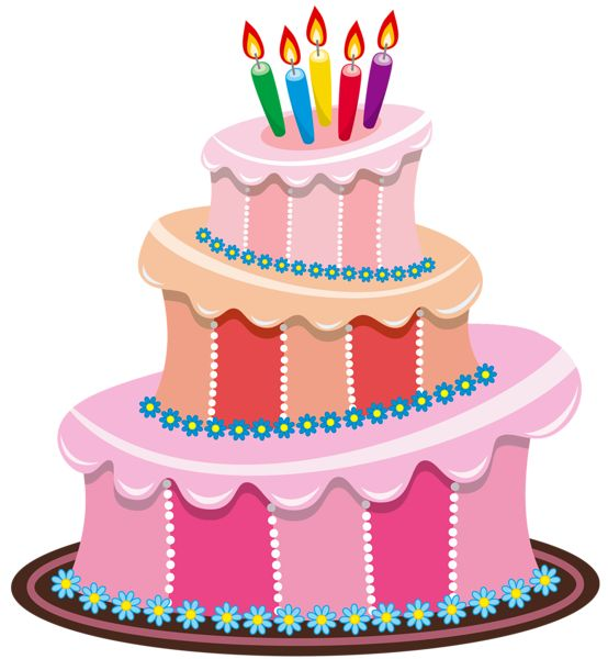Pinky Birthday Cake Clipart