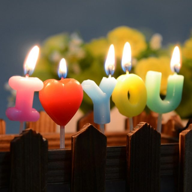 Romantic Happy Birthday Candles