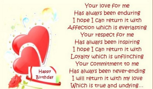 Sweet Birthday Poems for her