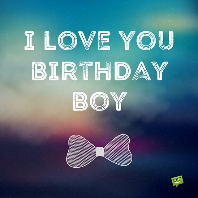 Tender Happy Birthday Boy Images