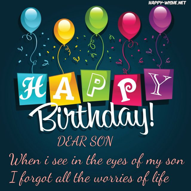 Top Birthday Wishes For Son With Images