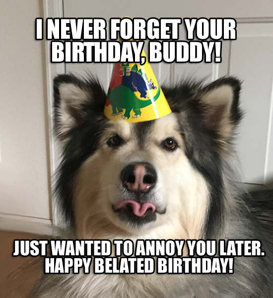 awesome happy belated birthday meme