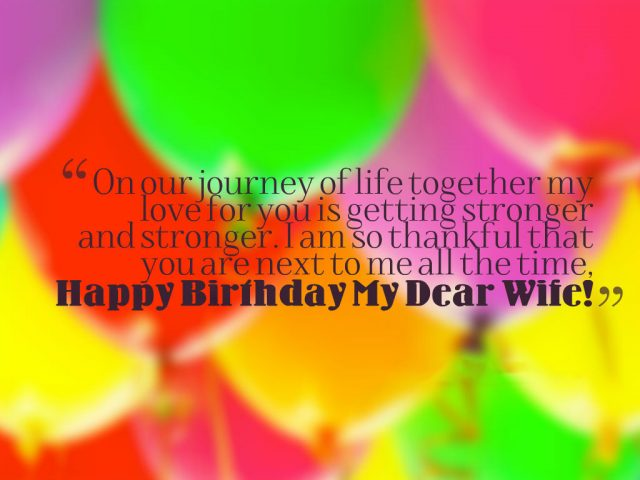colorful Birthday Wishes for Wife with Images