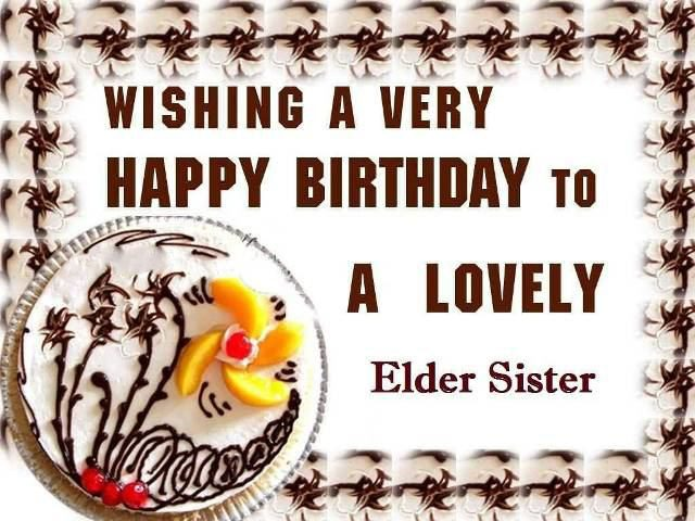 elder Birthday Wishes for Sister