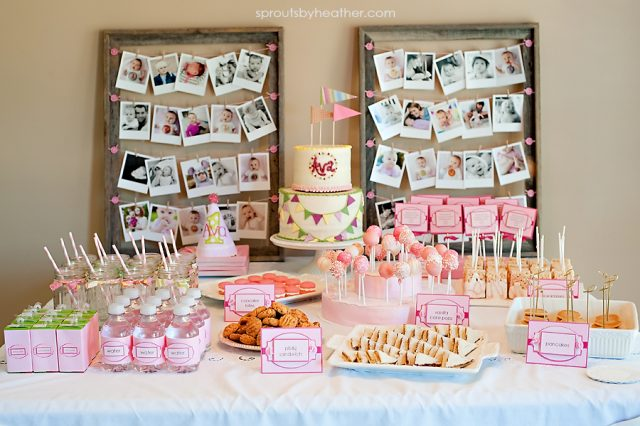 first birthday party ideas for baby girl