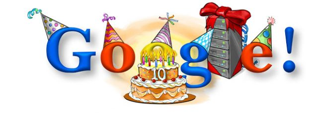 google 10th birthday