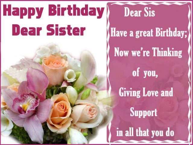 great Birthday Wishes for Sister