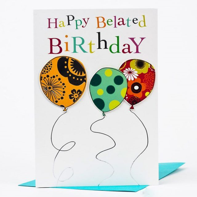 happy belated birthday card images