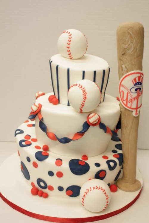 happy birthday cake for boys – baseball