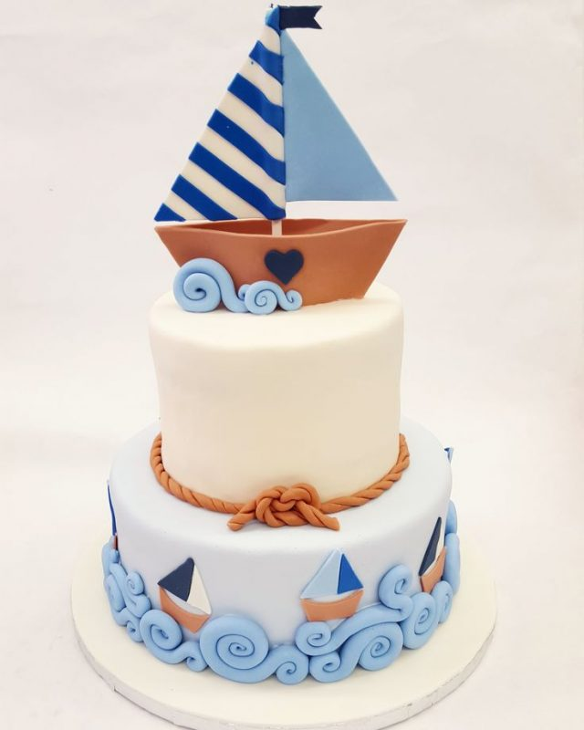 happy birthday cake for boys – sail boat