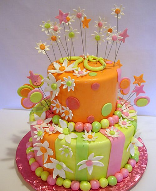 happy birthday cake for girls – Flowers
