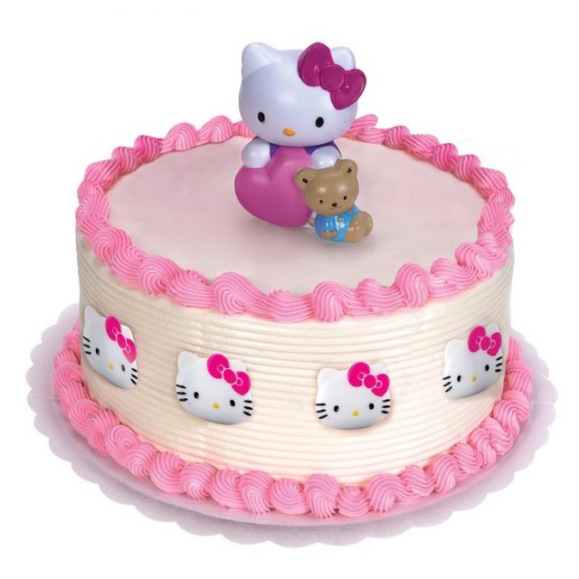 happy birthday cake for girls – Hello Kitty