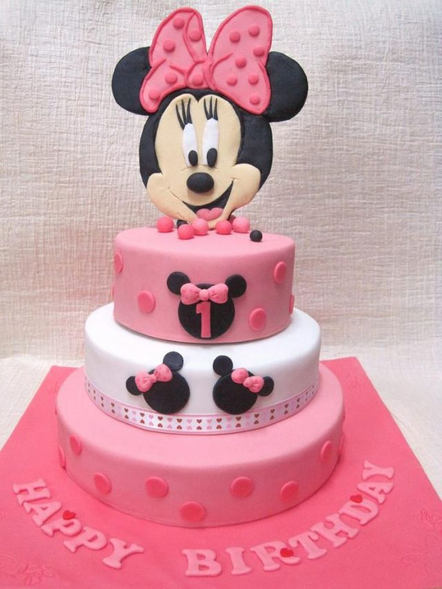 happy birthday cake for girls – Minnie