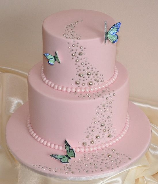 happy birthday cake for girls – butterflies