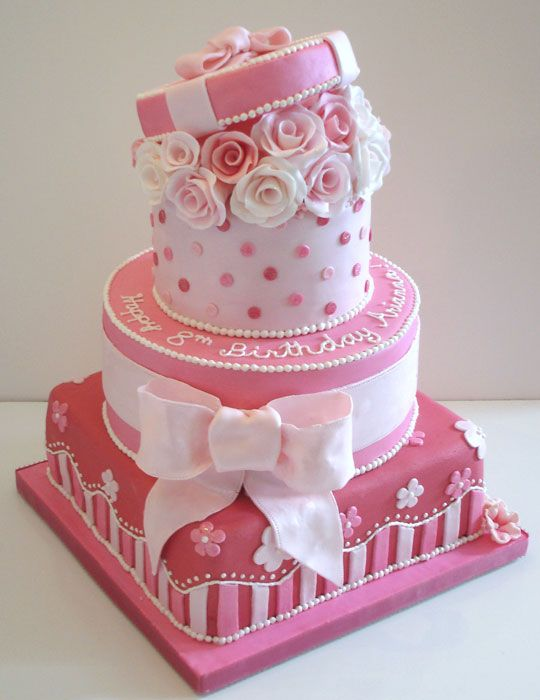 Happy Birthday Cake For Girls Presents