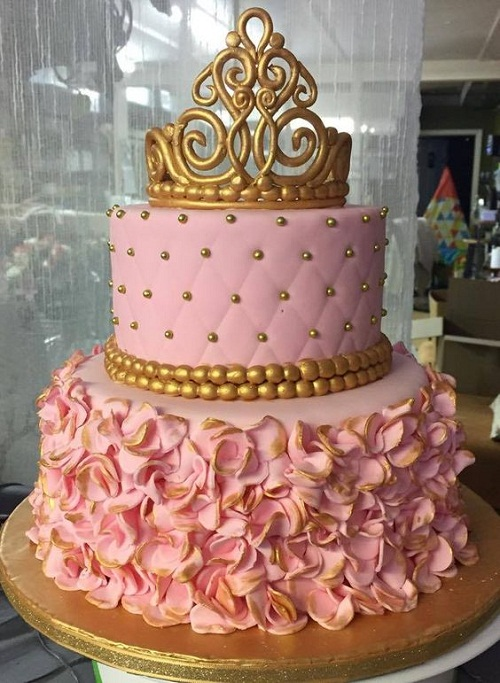 happy birthday cake for girls – princess