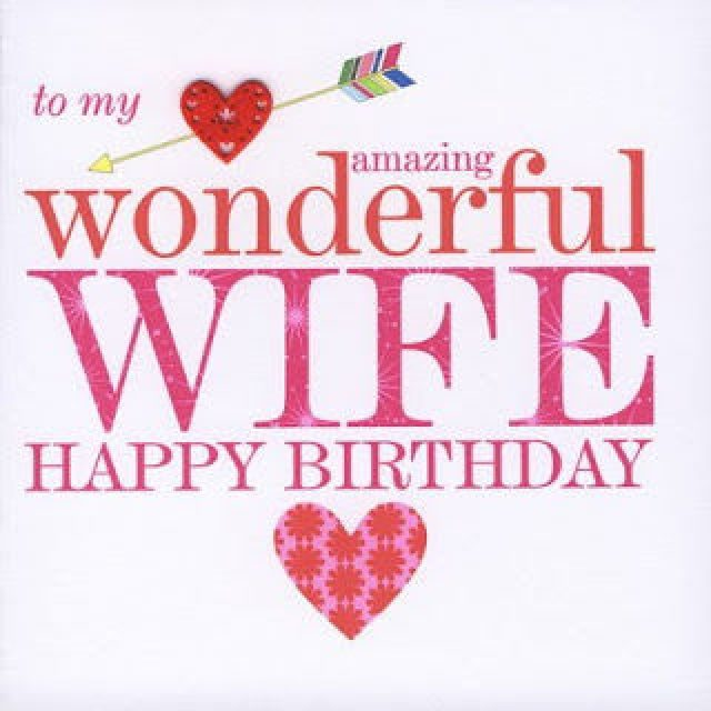 pink Birthday Wishes for Wife with Images