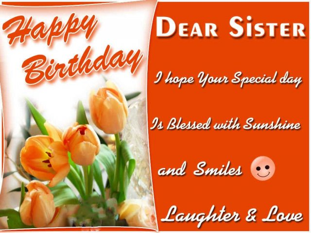 smiley Birthday Wishes for Sister