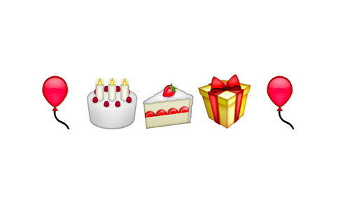 the Line Birthday Emoji