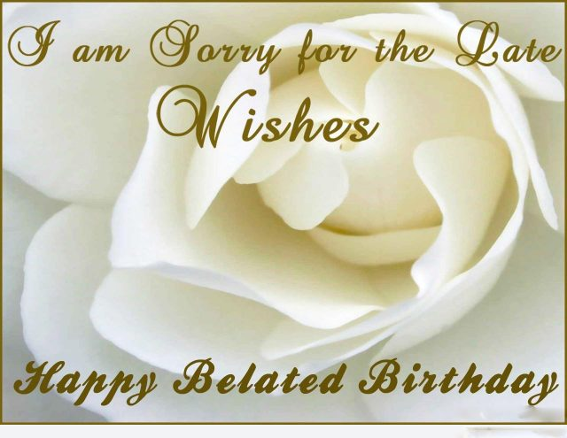 white – rose happy belated birthday images