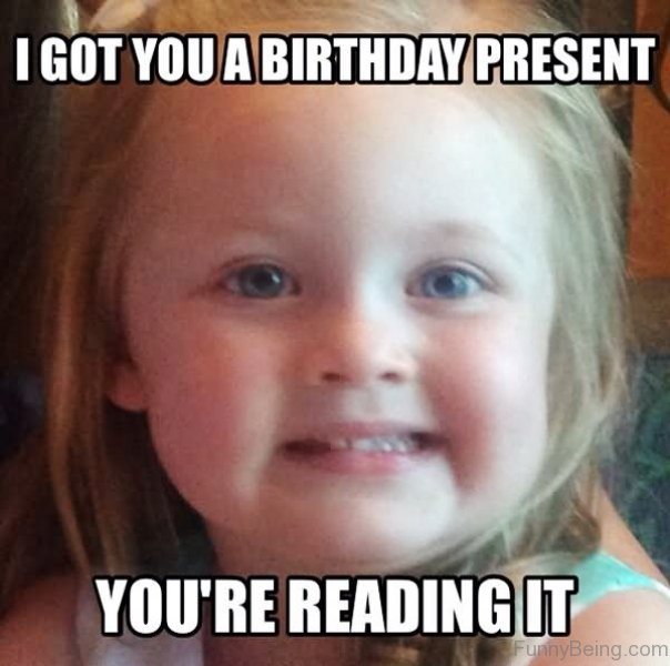 Birthday Funny Meme – a surprised gift