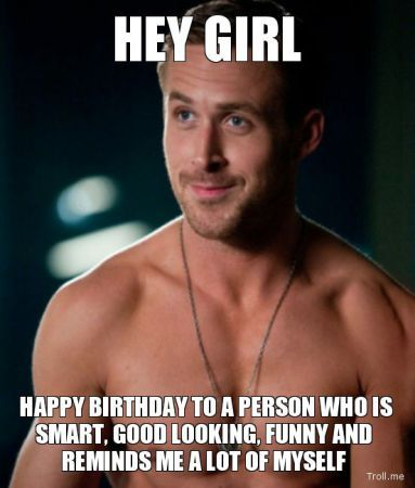 Birthday Funny Meme for girl