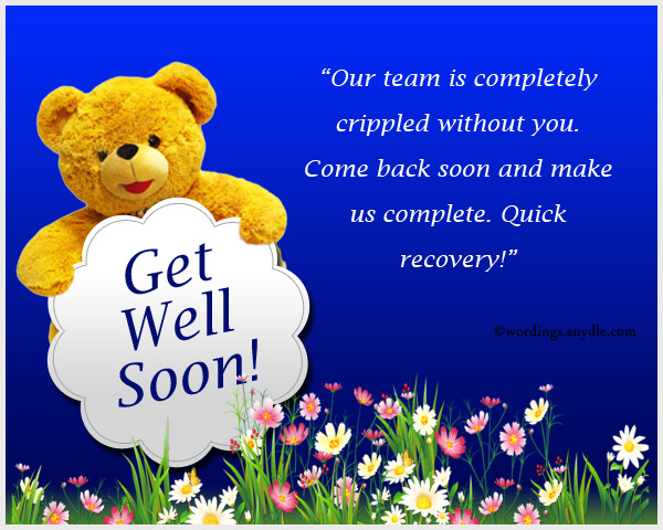 Lovely get well soon messages