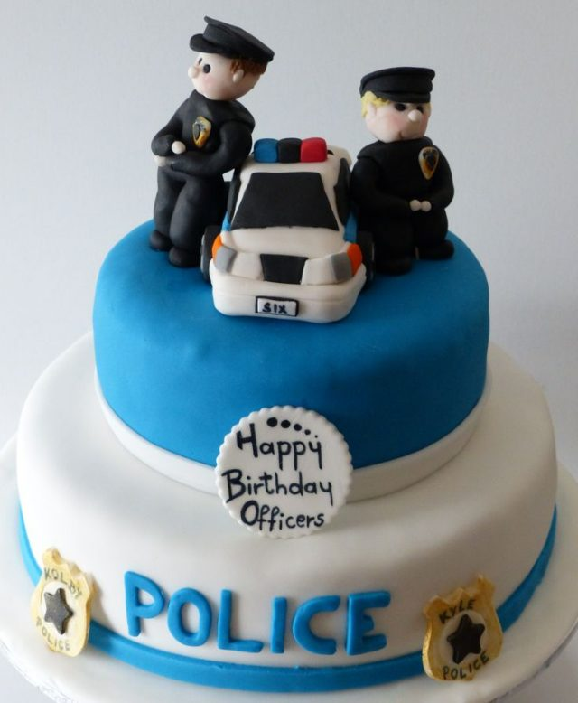 Unique Birthday Cake Police Officers
