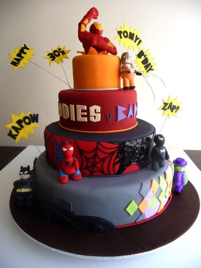 Unique Birthday Cake – super heroes
