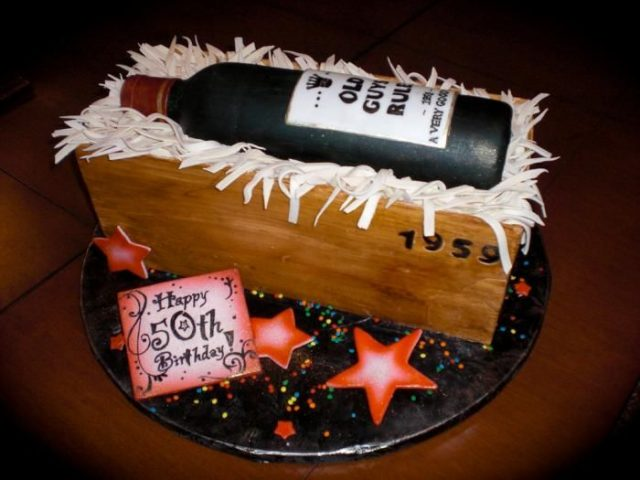 Unique Birthday Cake Wine Bottle