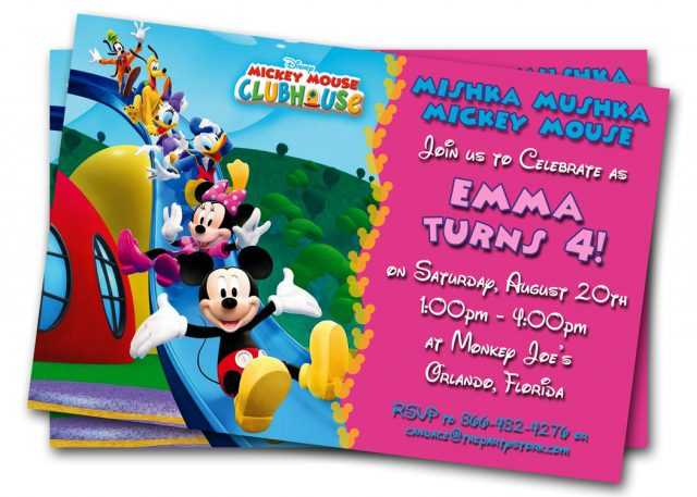 free printable birthday cards – mickey mouse