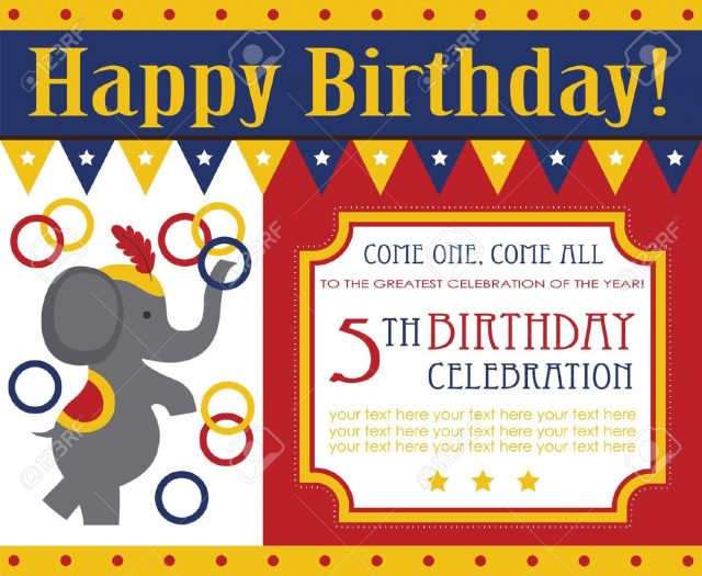 free printable birthday cards – the elephant