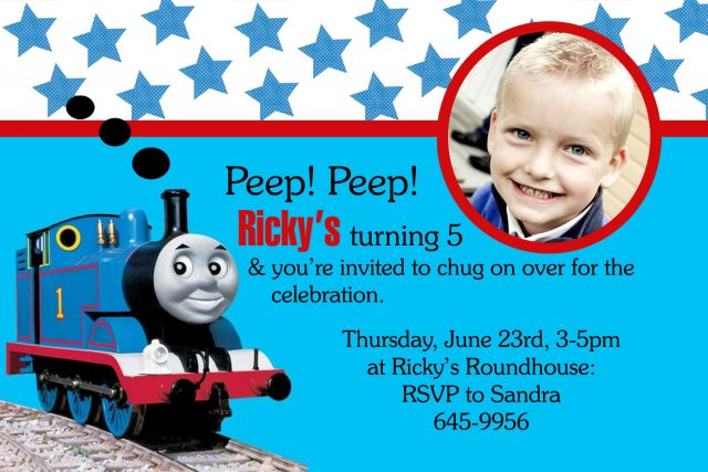 free printable birthday cards – the train