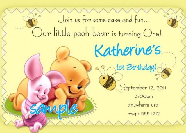 free printable birthday cards – winney the Pooh