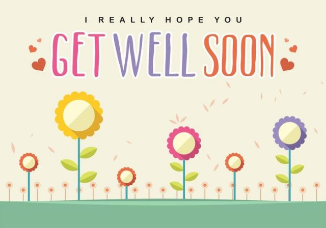 get well soon cards – sunflowers