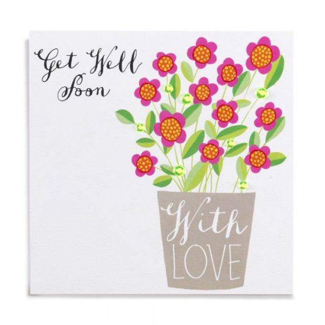 get well soon flowers on cards
