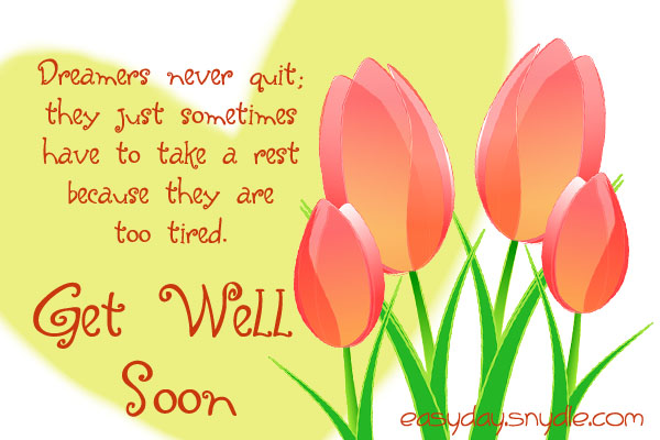 get well soon quotes and dreams