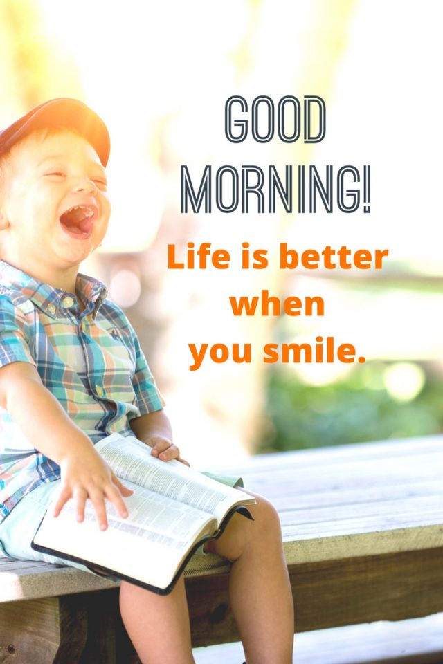 good morning quotes – smiley