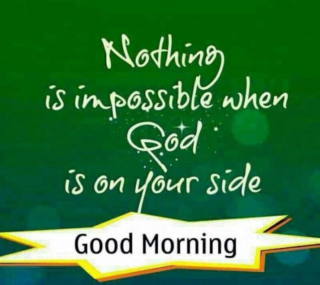 good morning quotes with God